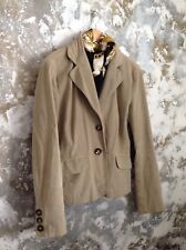 womens jacket beige stretch cotton cord riding hunting country sports Marella vg