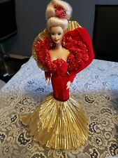 50th Anniversary Barbie Doll Golden 1995 Porcelain Limited Edition