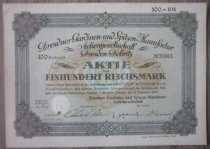 Aktie, Dresdner Gardinen und Spitzen Manufaktur AG 1932 (Art.3176)