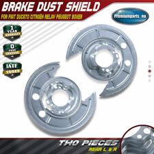 2x Brake Disc Splash Plate for Fiat Ducato Peugeot Boxer Citroën Relay Rear L+R