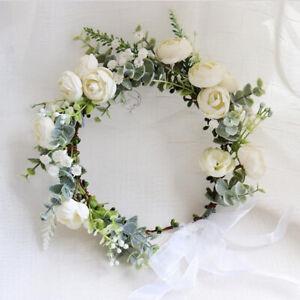Wedding Flower crown Bridal Shower crown Flower Girls Crown First Communion