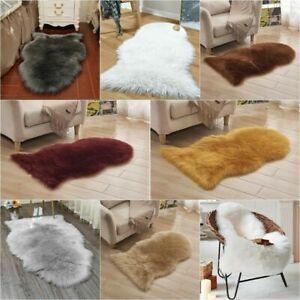 Large Faux Fur Sheepskin Rug Sofa Bed Fluffy Mat Soft Hairy Shaggy Floor Carpet