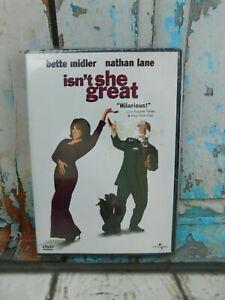 Isn't She Great - DVD  Bette Midler - New (has tear in shrink wrap)