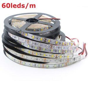 12V 16ft 1-5M 5630 60led/m 120led/m LED Light Strip Flexible Ribbon Tape lamp