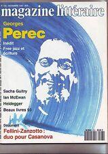 le magazine litteraire decembre 1993 - 316 -  georges perec