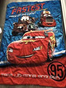 Disney Pixar Cars Lightning McQueen Blanket Fits Toddler Bed