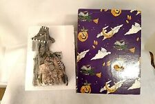 "New Blue Sky Clayworks Halloween ""The Bat Cave"" Heather Goldminc 2002 Tea Light"