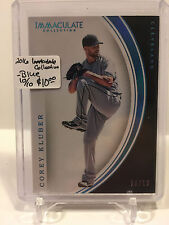 2016 Immaculate Collection - 10/10 BLUE  #75 Corey Kluber