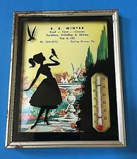 """""""R.E. Winter"""""""" Advertising Thermometer with 1962 Calendar Spring Grove, Pa."""