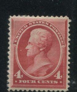 1888 US Stamp #215 4c Mint Hinged VF Original Gum Catalogue Value $300