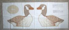 Wild Bird Collection Canada Goose  #1 stuffed decor pillow fabric panel