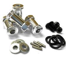 N10135 1/10 Scala Ruota Esagonale Hub m12 12mm Adattatore Estensione x 4 25mm in lega d'argento