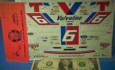 SLIXX WATERSLIDE DECALS 1/24 1:24 Vintage NASCAR FORD #6 VALVOLINE Cummins #A55
