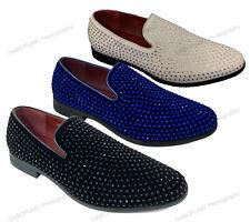 Men's Dress Shoes Rhinestone Stage Tuxedo Loafer Fashion Slip On Formal Glitter