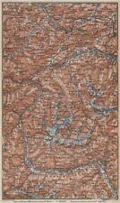 TYROL/ UPPER INNTHAL ÖTZTHALER ORTLER STUBAIER ALPEN topo-map. Austria 1929