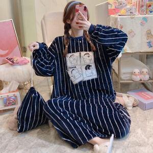 Women's Soft Flannel Fleece Hooded Dressing Nightgown Bathrobe Warm Sleepshirt