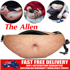 Dad Dad Bod Waist Belt Bum Bag Leather Hairy Beer Fat Belly Fanny Pack Pouch AU
