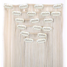 Long NEW Clip in on Real as remy human Hair Extensions Extension Full Head hn98