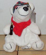 "Coca Cola Polar Bear 6"" Beanie Baby Plush Stuffed Animals Rare Htf"