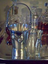 AMERICAN ART DECO ERA SILVER CLASSIC BAR ITEM ICE BUCKET SWINGING HINGED HANDLE