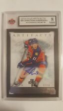 Jonathan Huberdeau 2012-13 Artifacts Silver Auto Rookie Card #67/99 KSA Graded 8