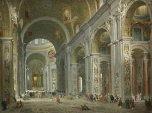 Giovanni Paolo Panini Interior of Saint Peter's Poster Giclee Canvas Print