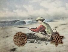 Vtg Currier & Ives Art Print Litho Sporting Hunting Fishing See Variety
