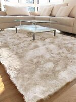 Cream Whisper Shaggy Rug SUPER  SOFT High QUALITY S -M -L XLarge Size NOW 30%OFF