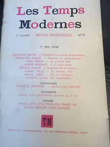 Rivista I Temps Moderno Jean Paul Sartre 4 Numero Di 8 (Mai 1946) A 12 (Agosto