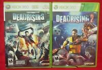 Dead Rising 1 + 2 Zombie Horror  Games XBOX 360 Game Lot Tested Working Complete
