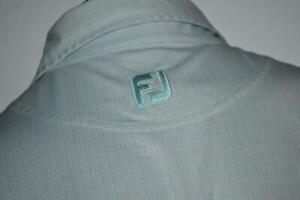 22249-a Mens Footjoy Golf Polo Shirt Size Medium Blue Geometric Designs