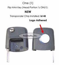 VW Volkswagen Transponder Chip 48 Flip Key UNCUT key blade keyless Beatle Pasat