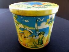 "Vintage Blue Bird Confectionery Tin Harry Vincent Limited England 3 3/4"" Seasons"