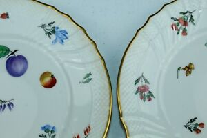 "8 RICHARD GINORI Fruit Pattern Plates PITTORIA Italy 8.5"""