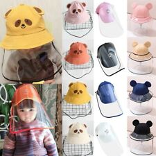 Anti-Spitting Protective Hat Dustproof Cover Kids Boys Girls Fisherman Cap Hat