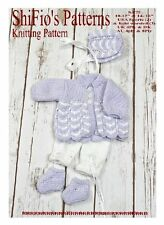 "KNITTING PATTERN for MATINEE SET 10""-12"" & 14""-16"" DOLL #75 NOT CLOTHES"