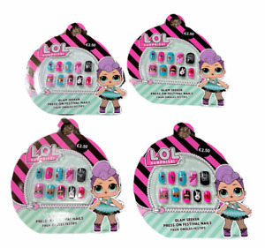 4 x LOL SURPRISE STICK ON GIRLS NAILS GLAM SEEKER EASY PRESS ON  PARTY FUN GIFT