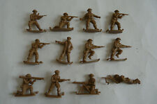 Vintage Matchbox 1 32 WW2 British Infantry with Moulding Lettered Lugs Attached