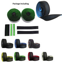 Leather Bike Handlebar Tape Bicycle Bars Grip Wrap Self-Adhesive Non-slip Sport