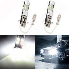 Pair H3 60W 6000LM High Power LED Xenon White Fog Light Bulb 6000k 2835 SMD Lamp