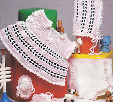 Crochet Pattern ~ BABY DIAPER COVER UP SET Booties, Bonnet ~ Instructions
