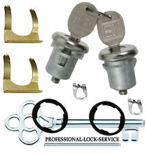Blazer Jimmy Suburban 67-91 Door Lock Key Cylinder Pair Tumbler Barrel 2 Keys