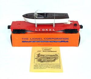 Postwar Lionel 6501 Jet Motor Boat Transport Car~w/Nice OB & Instructions