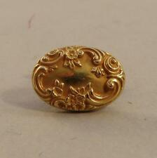 Single Antique Baroque Floral 14k Yellow Gold Single Cufflink MAKE A RING!