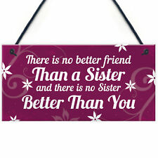 Best Friend Sister Gifts For Birthday Christmas Plaque Friendship Keepsake Sign