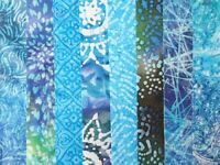 "Morning Mist Batiks Fabric Jelly Roll Strips 10 strips 2.5/"" x 44/"""