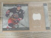 2007-08 Upper Deck Artifacts Treasured Swatches 203/299 Sergei Fedorov #TS-SF