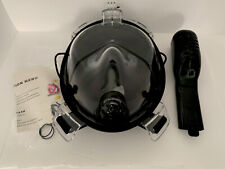 Full Face Snorkel Mask with FLOWTECH Advance SIZE: S/M Seaview 180° BLACK
