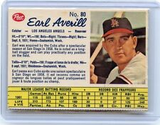 1962 POST CANADIAN #80 EARL AVERILL BASEBALL CARD, LOS ANGELES ANGELS, 91513