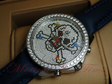 JACOB & CO JACOB AND CO FIVE TIME ZONE 47MM SKULL W/ PAVE DIAMOND BEZEL & DIAL